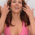 Liz Hurley cleavage 1