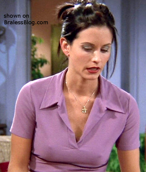 nipples Courtney cox